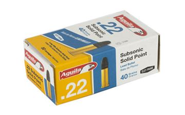 Picture of AGUILA 22LR 40GR SUB SP 50/5000