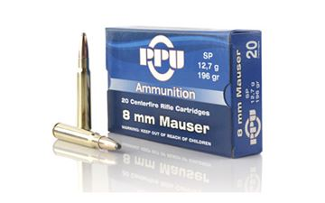 Picture of PPU 8MM MAUSER SP 196GR 20/500