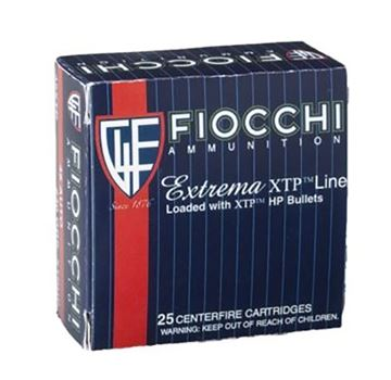 Picture of Fiocchi .38 Special Extrema 125 Grain XT Pointed Soft Point Ammo (Box of 25 Round)