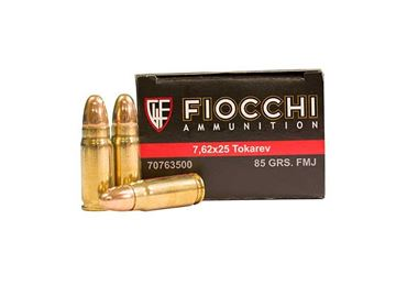 Picture of Fiocchi 7.62 x 25 mm Tokarev 85 Grain Full Metal Jacket (Box of 50 Round)