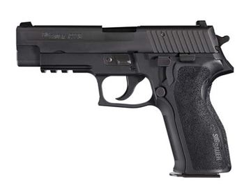 Picture of SIG Sauer-P226 Rail, 9 mm, Nitron, SIGLITE Night Sights, E2 Polymer Grips