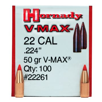 Picture of 22 Cal .224 50gr VMAX /100