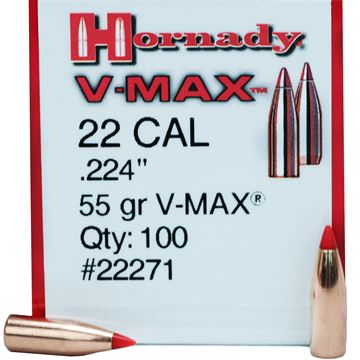 Picture of 22 Cal .224 55gr VMAX /100