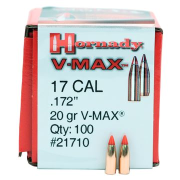 Picture of 17 Cal .172 20gr V-MAX /100
