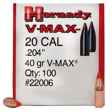Picture of 20 Cal .204 40gr V-Max /100