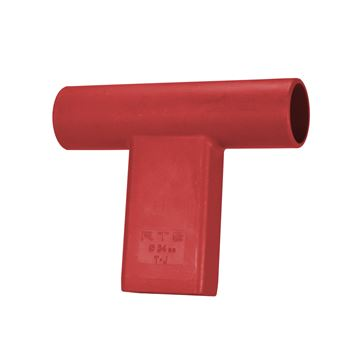 "Picture of ""T"" Connector for Round Target Pole - Red"