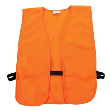 """Picture of Adult Orange Safety Vest Chest 38"""" to 48"""""""
