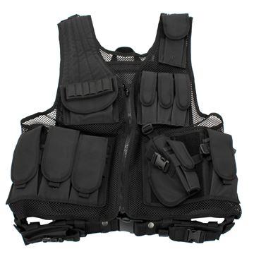 Picture of Black Deluxe Tactical Vest - Standard