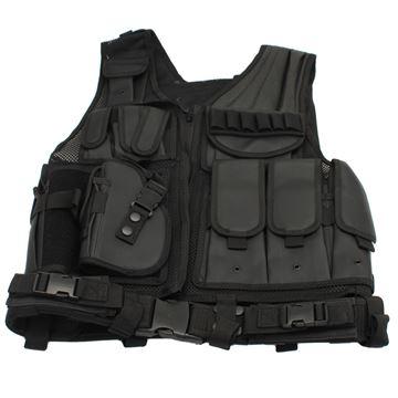 Picture of Black Deluxe Tactical Vest-Standard LH