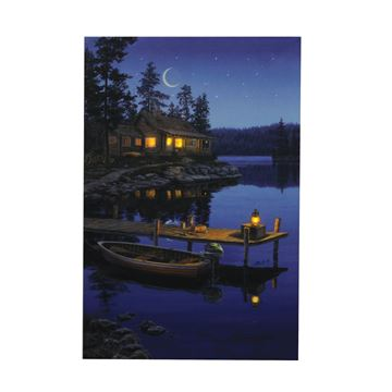 Picture of 24 X 16 LED Wall Art - Crescent Moon