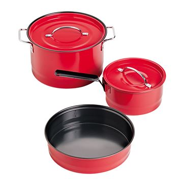Picture of Cookware Family Cookset Red Enamel