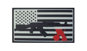Arsenal PVC Velcro Arsenal Patch American Flag with Rifle