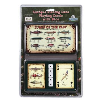 Picture of Antique Lure Cards And Dice In Gift Tin