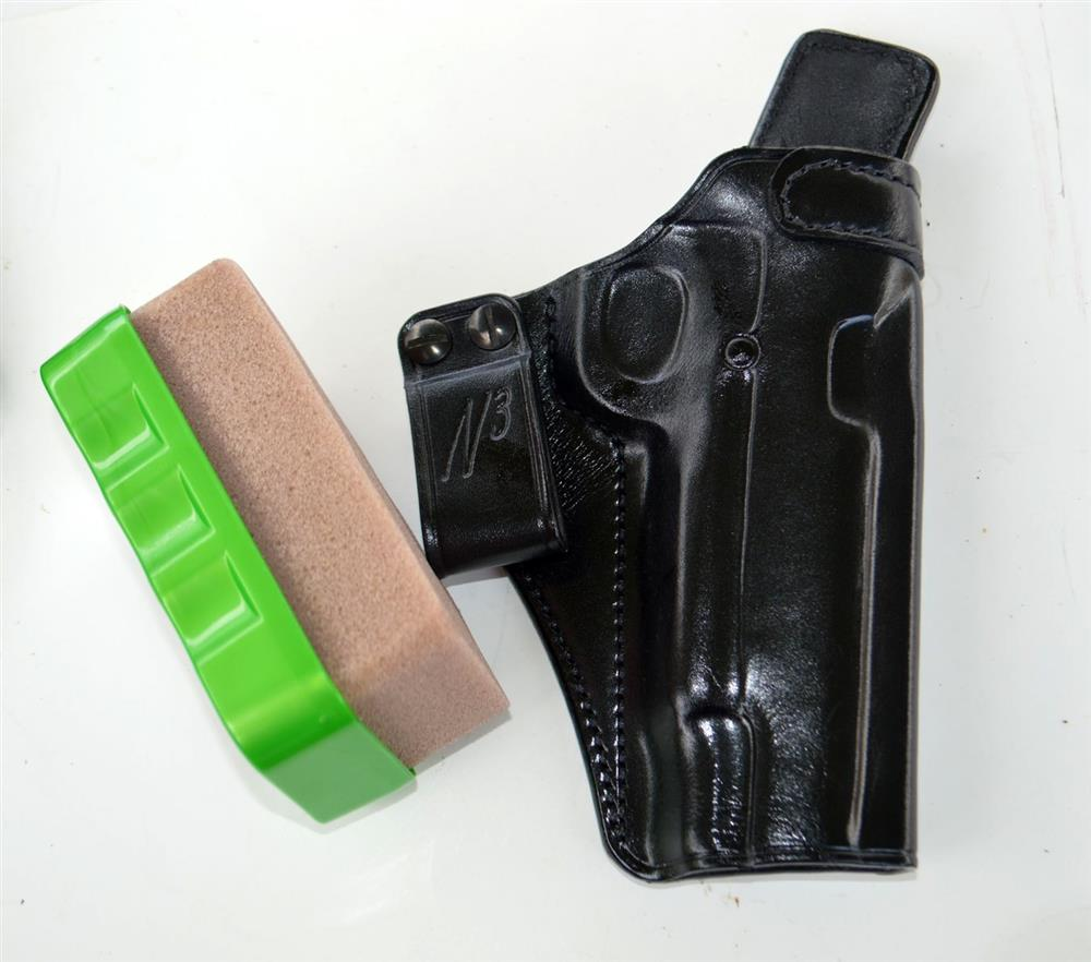 Galco N3 holster and cleaning sponge