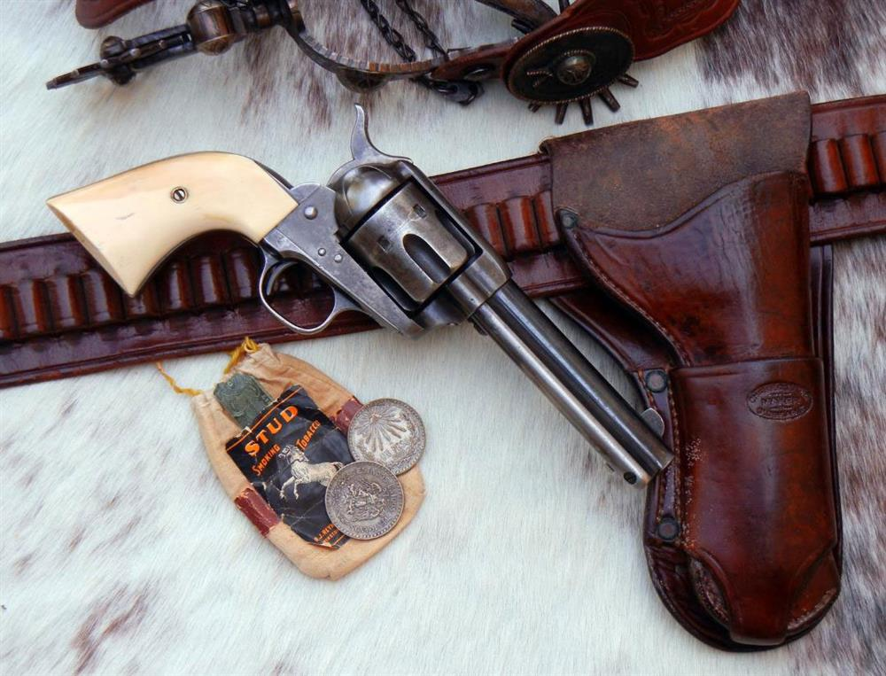 Colt Single Action Army pistol with Collins holster