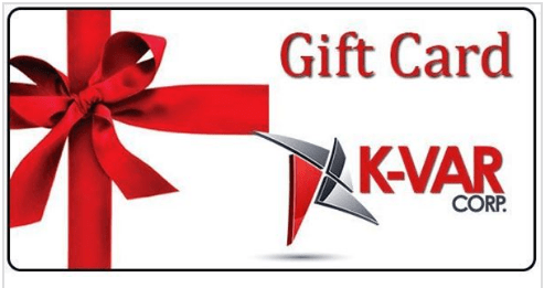 K-VAR gift card with red bow