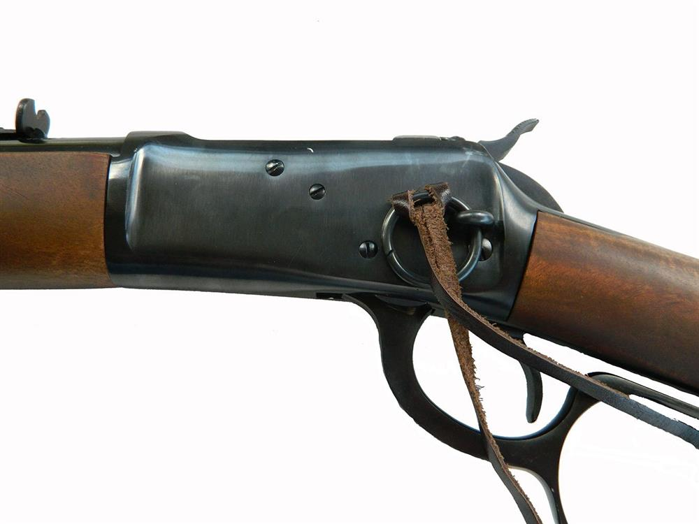 Saddle ring and thong on the Rossi Frontier rifle