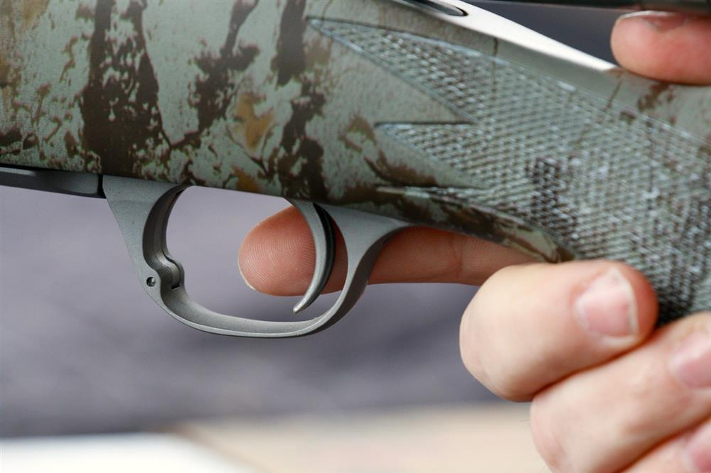 Proper finger placement on a rifle trigger
