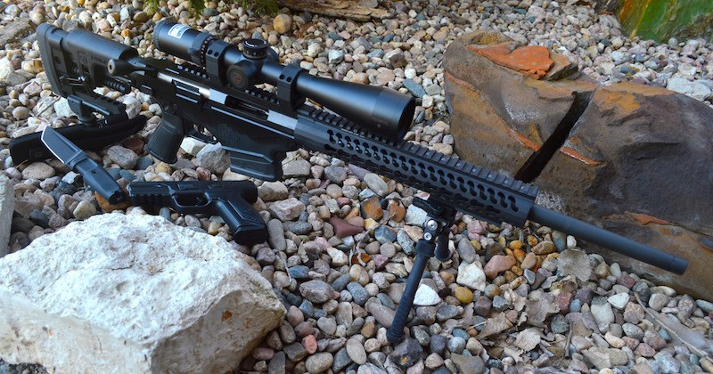 Ruger 6.5 Creedmoor rifle was equipped with a Nikon .308 optic and Atlas bipod and monopod