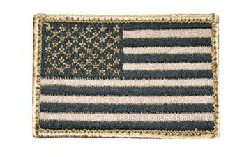 BH AMERICAN FLAG PATCH H&L TAN/BLK