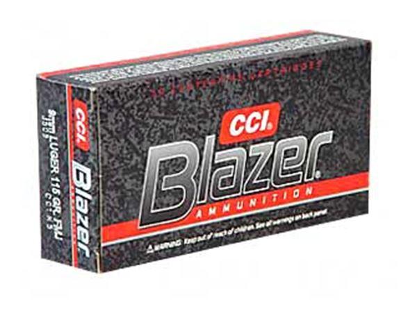 CCI/BLAZER 9MM 115GR FMJ 50/1000