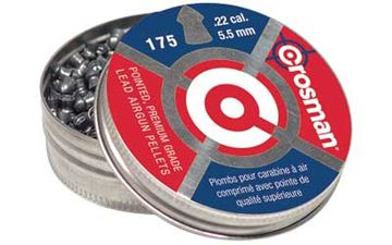 Picture of CROSMAN .22 POINTED PELLETS 175/TIN