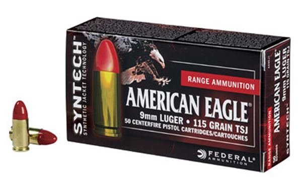 FED AM EAGLE 9MM 115GR TSJ 50/500