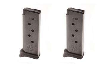 MAG RUGER LCP 380ACP 6RD BL W/EX 2PK
