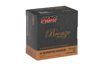 PMC BRNZ 44MAG 180GR JHP 25/500
