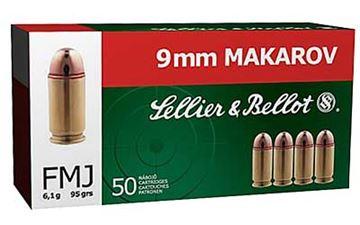 S&B 9MM MAKAROV 95GR FMJ 50/1000