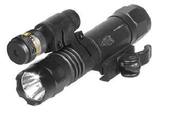 UTG LED FLSHLGHT W/ADJST RED LASR QD