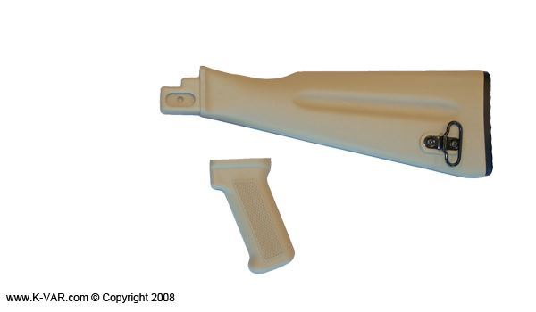 Desert Sand Buttstock/Pistol WARSW for Stamped Receivers, Warsaw Pact Length Desert Sand color