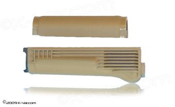 Handguard Set for Stamped Receiver Stainless Steel Heat Shield Desert Sand Polymer, Arsenal