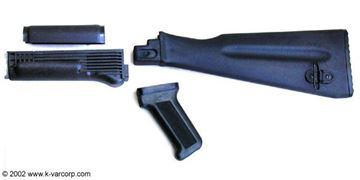 Four Piece US Made Stock Set, Stamped Receiver, Black Polymer, NATO Length Buttstock