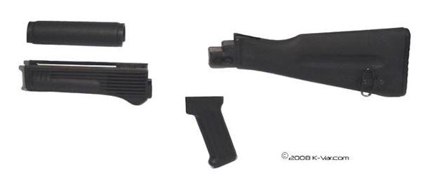 Military Spec Black Polymer Buttstock (Nato Length) and Pistol Grip