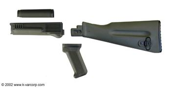 Stock Set, 4 Piece, Stamped Receiver, OD Green Polymer, Warsaw length Buttstock, Arsenal