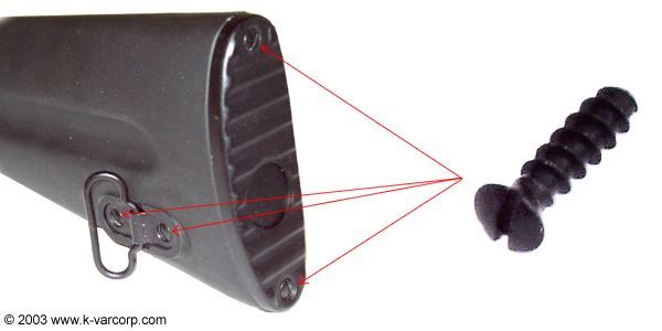 Screw ~ For Polymer Buttstock (Sling Swivel & Butt Plate)