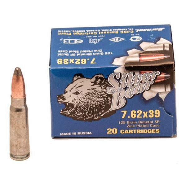 Ammo, Silver Bear, A762SPN, 7.62X39