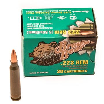 Ammo, Brown Bear, AB223FMJ, .223 REM