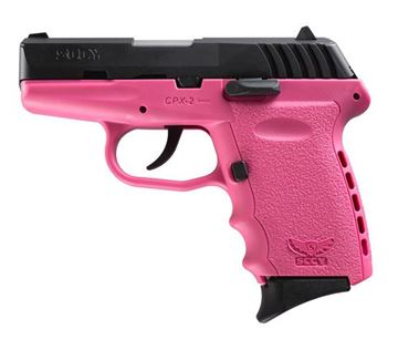 Picture of SCCY CPX-2 CB 9 x 19 mm DAO, Blu/Pink 2 x 10 Round magazine