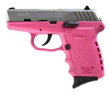 SCCY CPX-2 CB 9 x 19 mm DAO, SS/Pink 2 x 10 Round magazine
