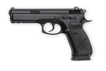CZ75 SP01 Pistol 9mm, Black Night Sights, 18 round - 91152