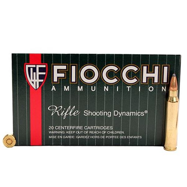 Fiocchi .223 Remington 55 Gram Pointed Soft Point Ammo (Box of 20 Round)