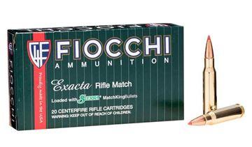 Fiocchi .308 Winchester 168 Grain Exacta Match Sierra MatchKing Ammo (Box of 20)