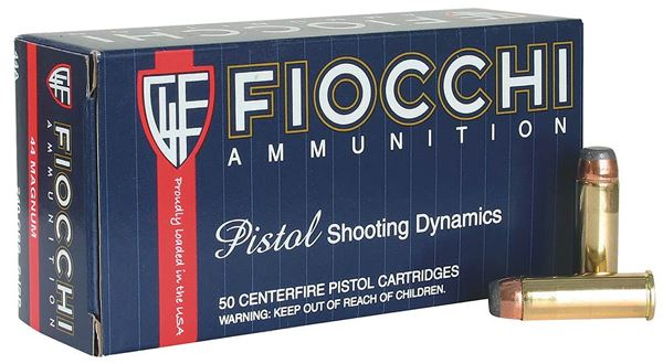 Fiocchi .44 Magnum 240 Grain Jacketed Hollow Point  Ammo (Box of 50 Round)