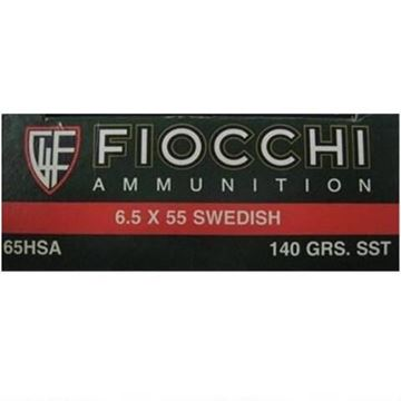 Fiocchi Extrema Ammunition 6.5 x 55 mm Swedish Mauser 140 Grain Hornady SST Polymer Tip Boat Tail (Box of 20 Round)