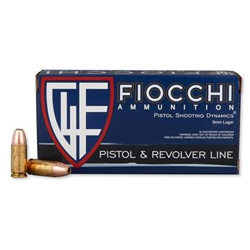 Fiocchi 9APHP Pistol Shooting 9 mm 115 Grain Jacketed Hollow Point Ammo (Box of 50 Round)