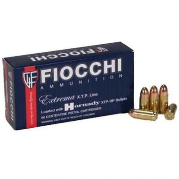 Fiocchi 9 mm 115 Grain XTPHP Ammo (Box of 25 Round)