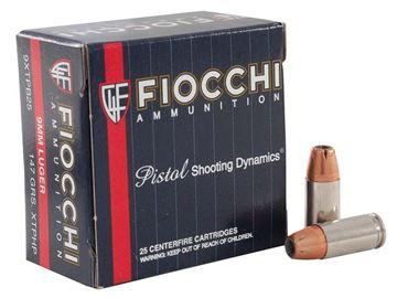 Fiocchi 9 mm 147 Grain  XTPHP Ammo  (Box of 25 Round)