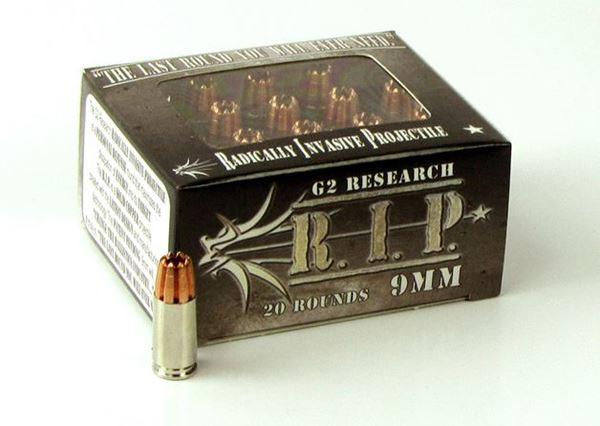 G2 Research 9 mm 92 Grain R.I.P. Ammo - Box of 20 round